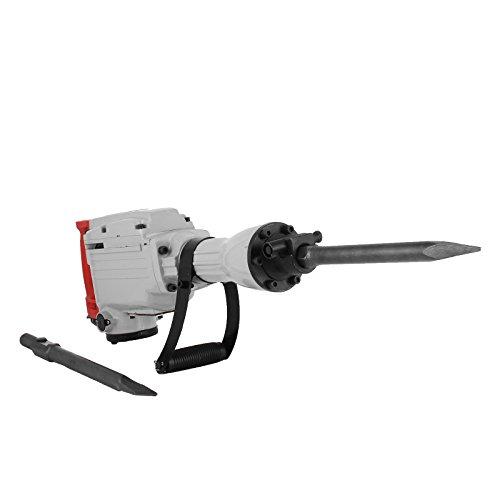 Buoqua Abbruchhammer 1850Watt Elektrischer Abbruchhämmer 65mm Bohren Durchmesser Elektrische Abbruchhammer Heavy Duty Jack Hammer Abbruch Bohrer mit Flach- und Bullpoint-Meißel (1850W 65mm)