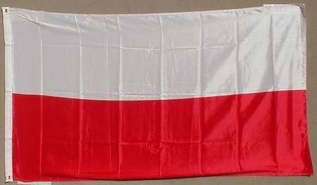 Pologne Drapeau Grand format aux intempéries 250 x 150 cm Drapeau