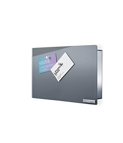 Blomus 65363 sleutelkast/glazen magneetbord Velio, wit 20 x 30 cm grijs