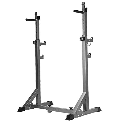 AT-X Adjustable Height Squat Rack Barbell Free Bench Press Portable Dumbbell Rack, Made of Heavy-Duty Steel Tube Frame Maximum Load 441 lbs, Ship from US… (Black02)