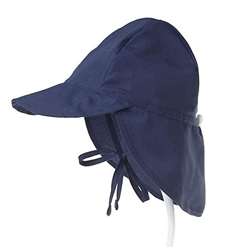 Sombrero para el Sol para bebé Gorra de Verano Ajustable para bebé para niños Viajes Playa Sombrero para niña Accesorios para bebés Sombreros para niños SL-Navy solid-1-S(44-48cm)