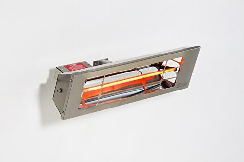 Alfresco Heizstrahler - ALF25 99cm lang, mittelwelliger elektrischer Infrarot- Heizstrahler mit 2.5 Kilowatt für Aussenbereich