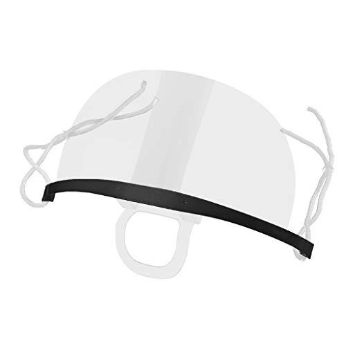 10 Stück Mund Nasenschutz Visier Kunststoff Transparent Mundschutz Schutzschild für Restaurants Küchen (Schwarz)