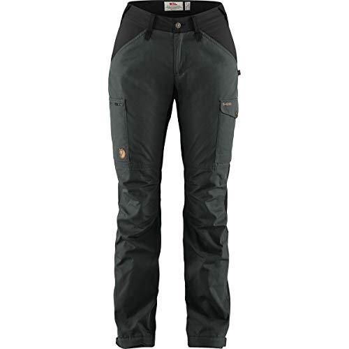 FJALLRAVEN Damen Kaipak Trousers Curved W Hose, dunkelgrau-schwarz, 38