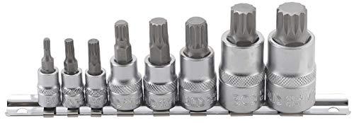 BGS 5105 | Juego de puntas de vaso | dentado múltiple interior (para XZN) | M4 - M16 | 8 piezas