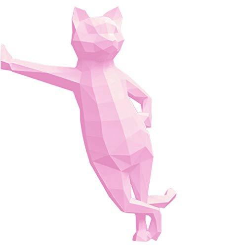 HAiHALA 3D Papier Modell Tierkatze, DIY Vorgeschnittene Papercraft, Pre-Cut Paper Handwerk Papier Spielzeug Geometrische Origami Puzzle Wanddekoration,6