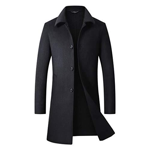 Veste Homme ELECTRI Manteau de Style Britannique,Hiver Hommes Slim Trench élégant Trench Double Boutonnage Parka