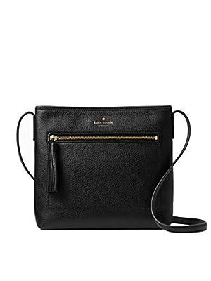 Kate Spade New York Chester Street Dessi Pebbled Leather Shoulder/Crossbody Bag (Black)