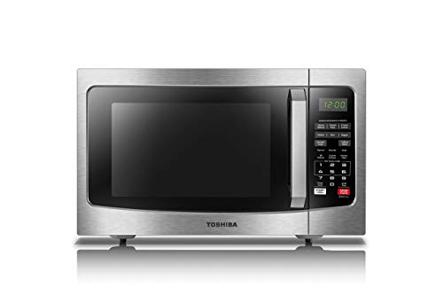 Toshiba EM131A5C-SS Microwave Oven with Smart Sensor, Easy Clean Interior, ECO Mode and Sound On/Off, 1.2 Cu.ft, 1100W, Stainless Steel (Renewed)