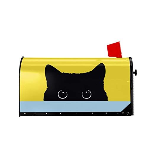 Foruidea Funny Black Cat Mailbox Covers Magnetic Mailbox...