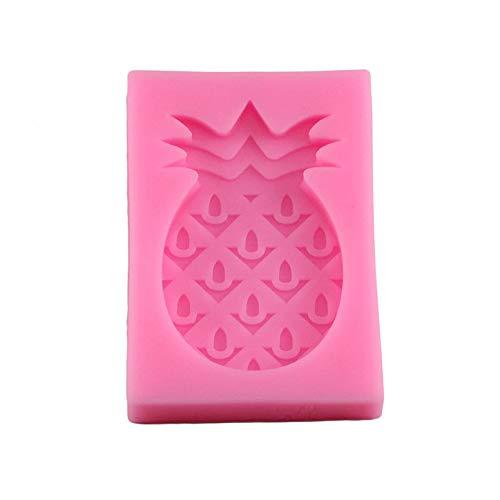 CSCZL Moldes de Pastel de Fondant de Silicona de piña 3D, moldes de Galletas de Chocolate y Dulces, Herramientas para Hornear de decoración de Pasteles de Fiesta de Verano DIY