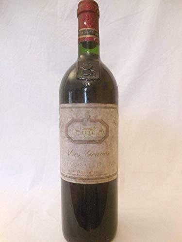 bordeaux supérieur les graves de château picon rouge 1995 - bordeaux france - une bouteille de vin