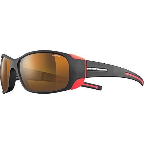 Julbo Montebianco Sonnenbrille Herren, Schwarz/Neonorange, FR: L (Größe Hersteller: L)