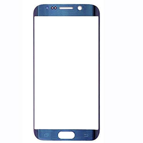 UU FIX Pantalla Cristal Frontal para para Samsung Galaxy S6 Edge (Azul) LCD Touch Screen Frontal Cristal Replacment con Juego de la Herramientas.
