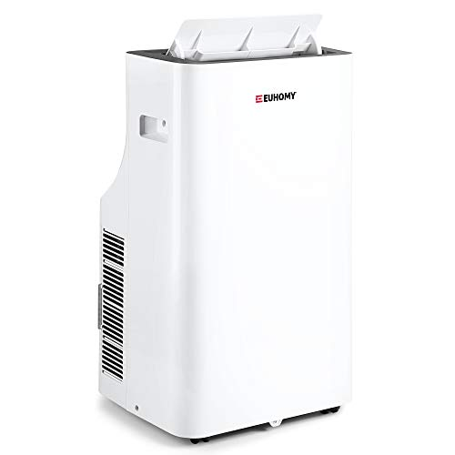 EUHOMY 14,000 BTU Quiet Portable Air Conditioner Dehumidifier, Portable Ac Unit With Remote Control, Floor Air Conditioner With Window Installation Kit For Room, Office, Dorm, Bedroom, White