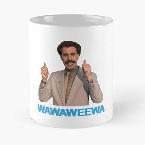 Quote Nice Ali Funny G Wawaweewa Quotes Very Man Borat Best Taza de café de cerámica de 11 onzas