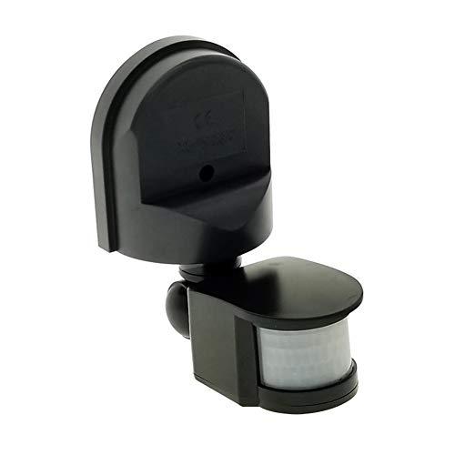 Motion Sensor Switch AC 110V-240V, Automatic Dusk to Dawn Infrared Body Motion PIR Sensor, 180 Degree Motion Security Floodlight Sensor Detector (Black)