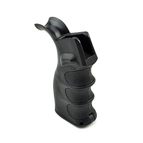 CLS TacticaI Beavertail Style Rear PistoI Grip with Storage Compartment, Ploymer Black