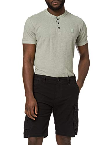 Jack & Jones Jjizack Jjcargo Shorts Ama Solid STS Pantalones Cortos, Negro, S para Hombre