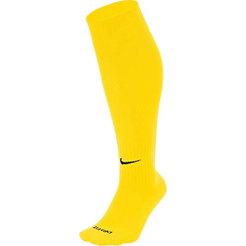 NIKE Unisex Classic II Cushion Over-The-Calf Football Sock Knee High, Hombre, Tour Yellow/Black, L