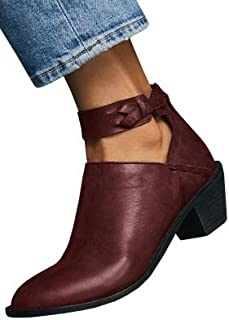 pointed ankle boots with buckles