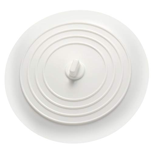 UEETEK Silicone lavabo Bouchon Bouchon de vidange de cuve pour cuisines salles de bains blanchisseries (blanc)