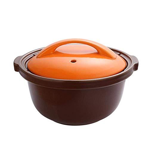 Beau et Pratique XHSGCasserole Haute température résistant et Une Grande capacité de Curling Pot for Raw Sable, feu Ouvert et gaz for Soupe Brut et Pierre Pot Casserole, 2.5L (Color : 4l)