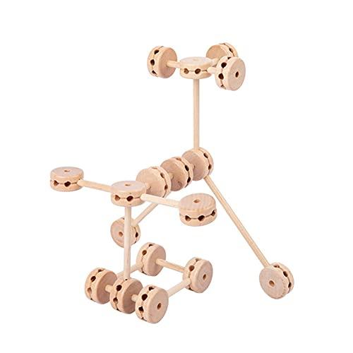 RUIXI Holzblöcke Puzzle, DIY Holz Bausteine Set, Pädagogische Erleuchtung Spiel Kit, geometrisches Würfelspiel für logisches Denken Training für Kinder Alter 3 Jahre und höher