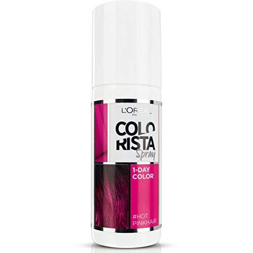 L'Oréal Paris Colorista Spray 1-Day Color Colorazione Temporanea un Giorno, Rosa Acceso (Hot Pink)