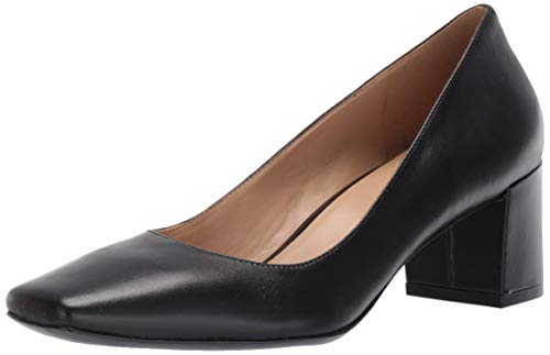 Naturalizer Women's Karina Pump, Black Leather, 5