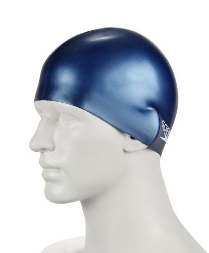 """Speedo Bonnet de natation junior """"MOULDED SILICON"""" Bleu Marine"""
