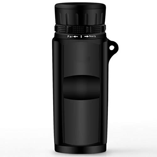 TMIL Monoculares de Alta Potencia HD, 10x32 Visión Nocturna Baja luz Visión Nocturna Telescopio monocular para Adultos Niños observación de Aves Caza de Caza Paisaje,Negro