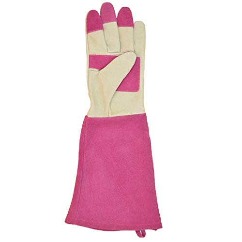 MOBFIDOFG Safety Work Gloves Rose Pruning Gloves for Women Long ThornProof Gardening Gloves Breathable Leather Garden Gifts