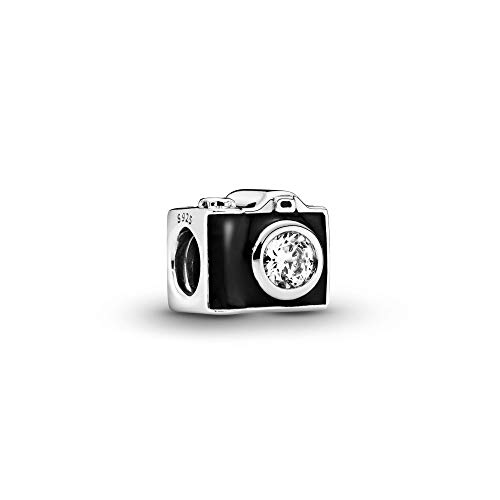 Pandora Jewelry Vintage Camera Cubic Zirconia Charm in Sterling Silver