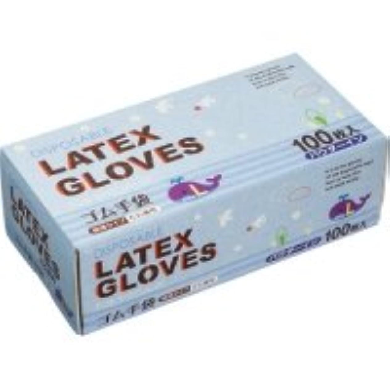付けるウサギミトンノーブランド ラテックス手袋 パウダーイン L 1箱(100枚)