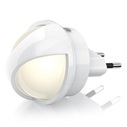 CSL - 360° LED Nachtlicht Orientierungslicht - Babylicht Schlummerlicht Stilllicht - integrierter Helligkeitssensor Dämmerungssensor - Energieeffizienz-Klasse A stromsparend