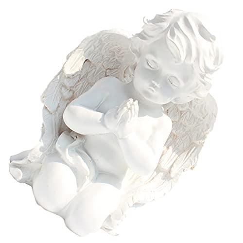 ABOOFAN Ajoelhado Orando Bebê Branco Asas Dos Anjos Querubins Anjo Escultura Estátua Estátua Do Jardim da Resina Estatueta Interior Ao Ar Livre Casa Decoração Do Jardim
