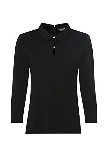 HALLHUBER Bubikragen-Shirt aus Lenzing™-EcoVero™ gerade geschnitten schwarz, XL