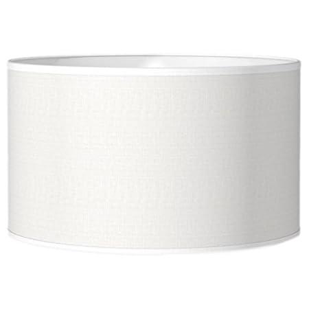 Besselink f503535–20écran de lampe–lampe de tons (chambre, entrée, salon, bureau, intérieur, blanc, coton, Cylindre, monótono)