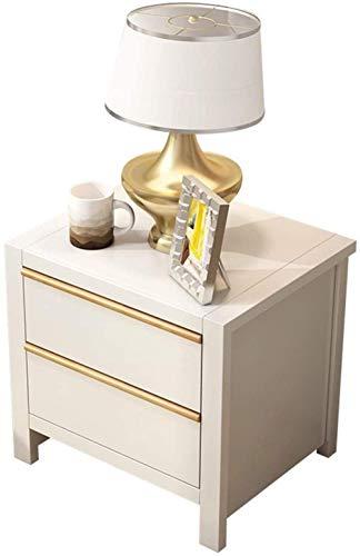 Mesita de noche para el hogar, dormitorio, cómoda, mesa auxiliar de madera, para sala de estar, mesa de café, mesa auxiliar (color: blanco)