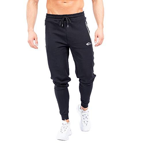 SMILODOX Jogginghose Nightfall | Trainingshose | Sport & Gym | Fitness | Freizeit | Sporthose | Jogger | Hose lang | Trends, Größe:XXXXL, Farbe:Schwarz