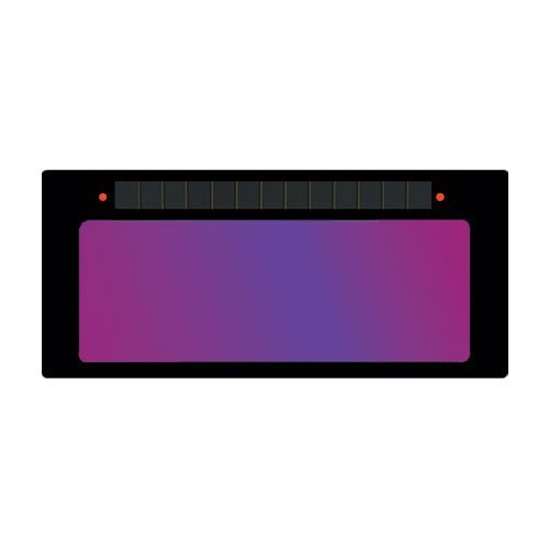 """ArcOne S240 DUO Horizontal Single Auto-Darkening Filter for Welding, 2 x 4"""", Variable Shade, Grind Mode HD (Shade 10/11)"""