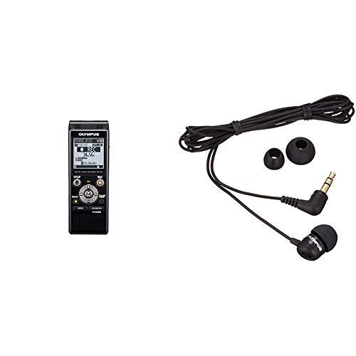 Olympus WS-853 Grabadora Digital de Voz de Calidad con Micrófonos Estéreo incorporados, USB Directo + TP-8 - Micrófono de grabaciones telefónicas, Color Negro