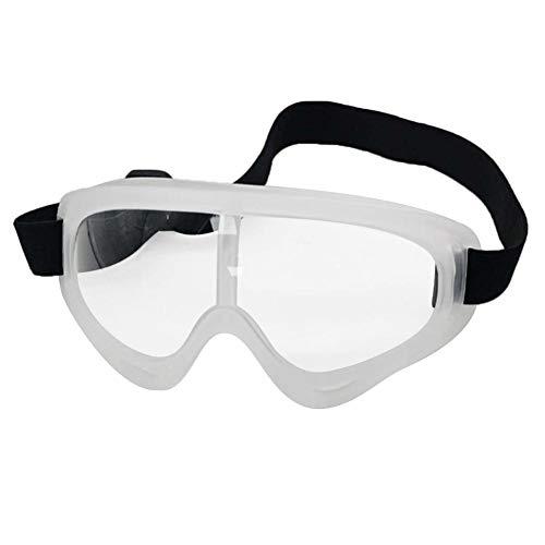 Fancylande Gafas de Seguridad, Gafas antivaho de Vista Completa con elástico Ajustable Antipolvo Antipolvo Gafas Protectoras para Hombre y Mujer