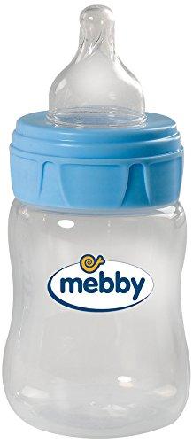 Mebby 92618 biberón con válvula anti-cólico y la succión de silicona, 150 ml, azul