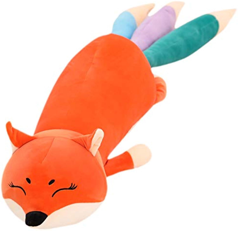 AILIZE Fox Plüsch Toy Boy Bett Schlafkissen Frau Geburtstagsgeschenk Niedlichen Kissen Lange Kissen Puppe
