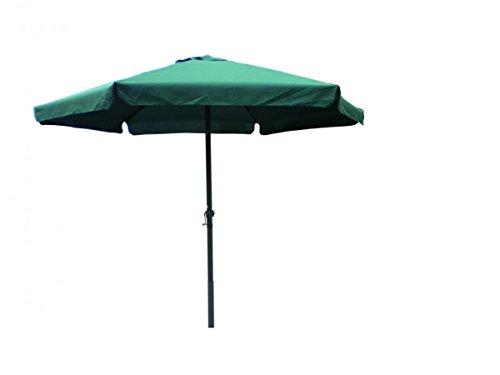 3 meter Sonnenschirm mit Kurbel grün