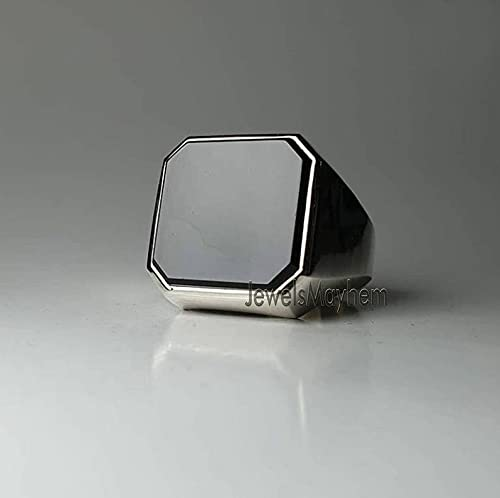 Black Onyx Ring Signet Octagon Max 45% OFF On Flat Genuine Popular