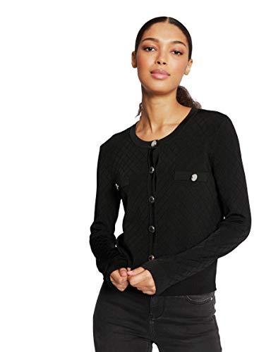 Morgan Gilet Tricot MARSI Cardigan Sweater, Noir, TL Womens