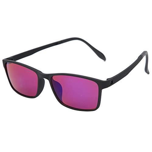 DAUERHAFT Gafas de Color Rojo-Verde, Mejora de la visión y resolución del Color, Mejora del Color, Gafas ciegas, Gafas daltónicas, para Personas ciegas Rojo-Verde